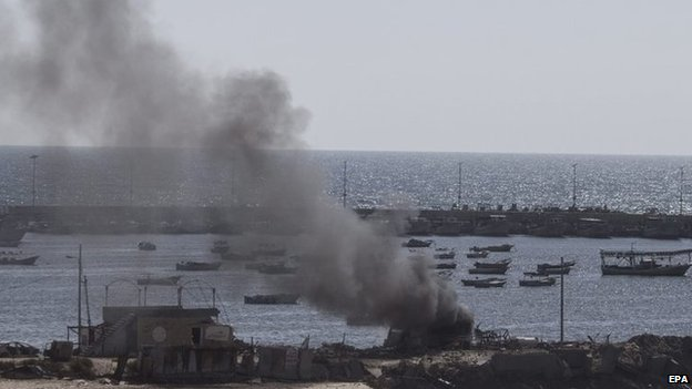 Israeli bombardment of Gaza City port, 16 July