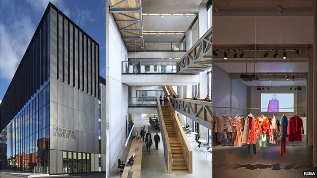 Several views of Manchester School of Art