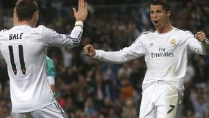 Gareth Bale and Cristiano Ronaldo of Real Madrid
