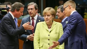 EU leaders at start of summit, 16 Jul 14