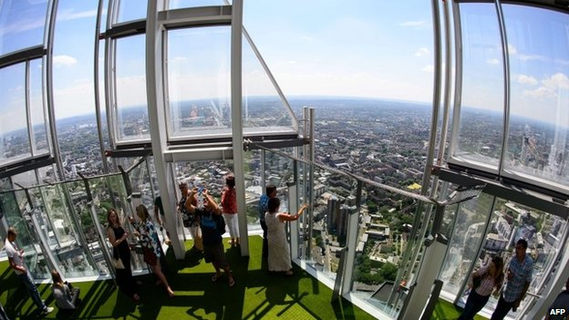 Viewing platform on the Shard