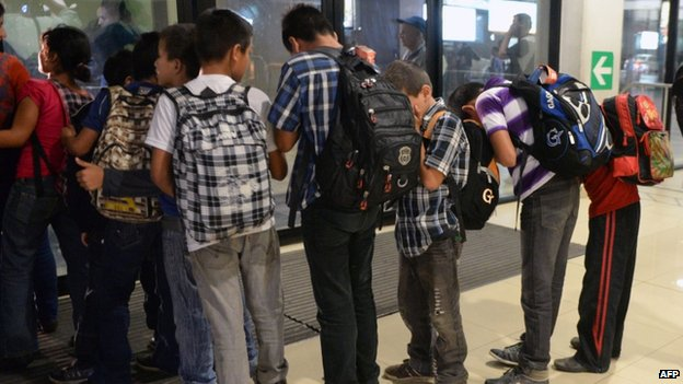 Guatemalan children deported from Mexico