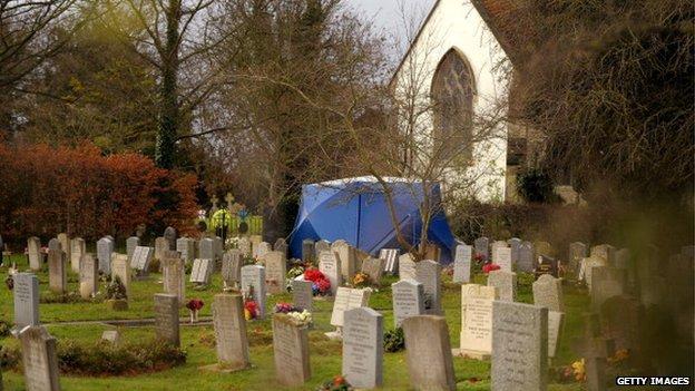 Graveyard burial site