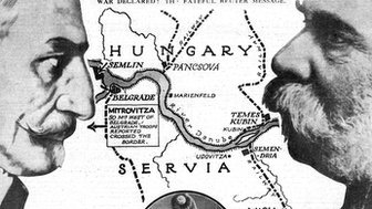 Graphic depicting Austria v Hungary