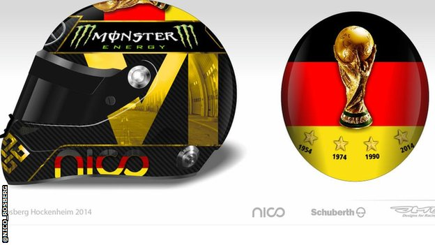 Nico Rosberg's proposed helmet design
