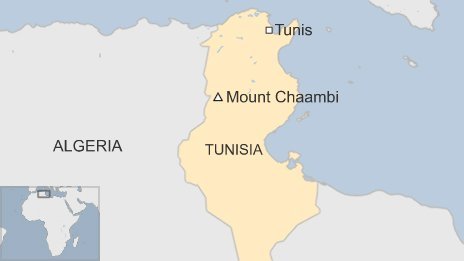 Map of Tunisia