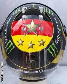 Nico Rosberg's redesigned helmet