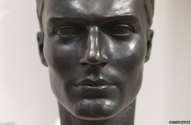 A bust of Claus von Stauffenberg at the German Resistance Memorial Center