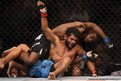 Hugo Viana (red gloves) and Aljamain Sterling during a bout