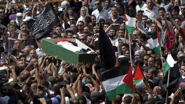 Funeral of Mohammed Abu Khdair (4 July 2014)