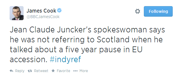 James Cook tweet