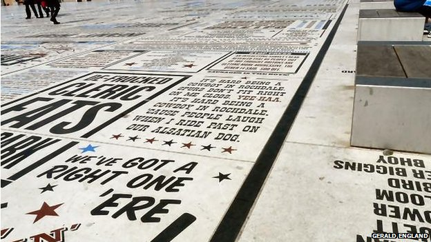 The Comedy carpet was unveiled by Ken Dodd on 10 October 2011. This part of the promenade is covered with hundreds of catchphrases and quotes from many entertainers who have performed at Blackpool over the years.