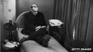 John Maynard Keynes in his study in Bloomsbury, London