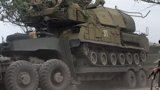 Buk missile launcher of the Ukrainian armed forces, file pic