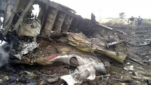 Crash site of flight MH17