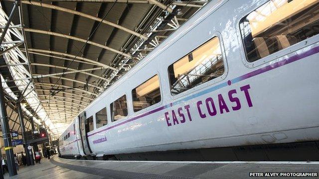 East Coast train at Leeds