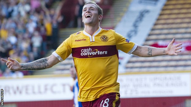 Josh Law knocked in two goals inside the opening 20 minutes at Fir Park