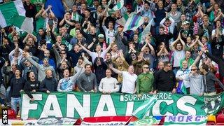 Groningen fans at Pittodrie