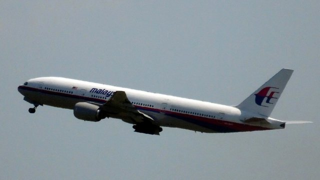 Photo shows Malaysia Airlines flight MH17 leaving Schiphol Airport in Schiphol, the Netherlands