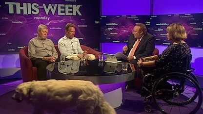 Alan Johnson, Michael Portillo, Andrew Neil, Tanni Grey Thompson and Molly the Dog