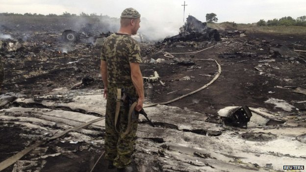The crash site is in an area controlled by Ukraine's separatist rebels