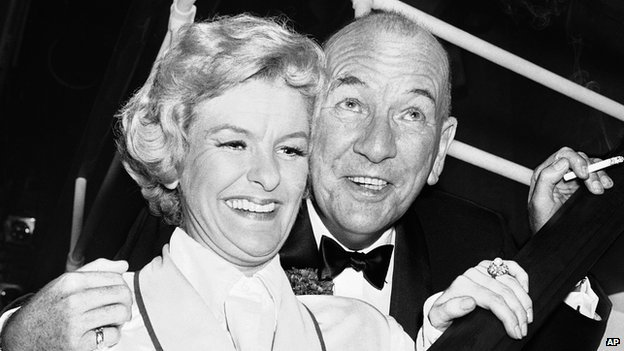 Elaine Stritch and Noel Coward in 1961