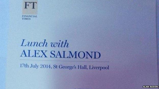 Salmond menu