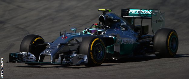 Nico Rosberg in action during the First practice of the German Grand Prix