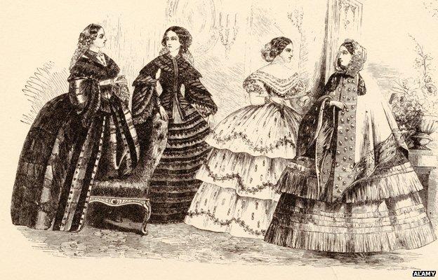 Victorian ladies illustration - late 1850s