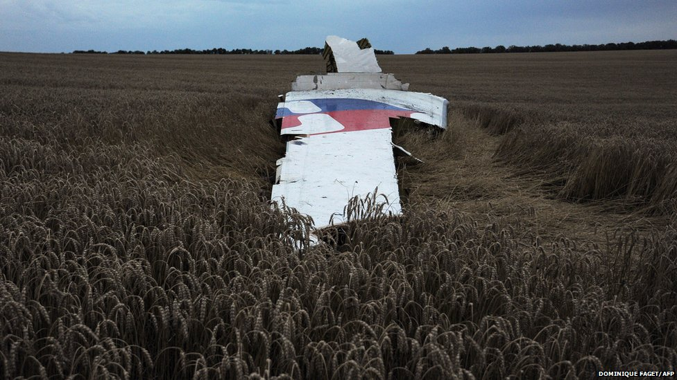 Wreckage of the Malaysian airline