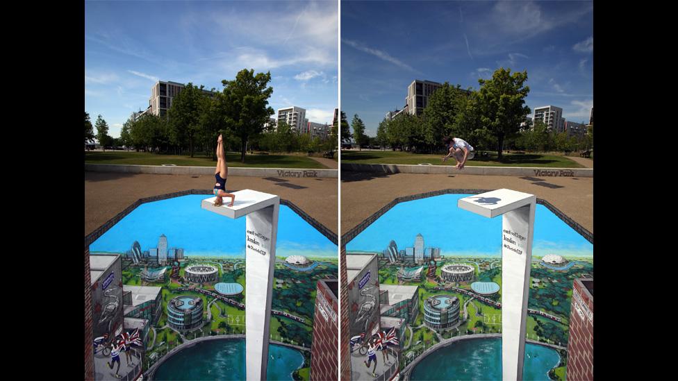 3D artwork in the East Village in London