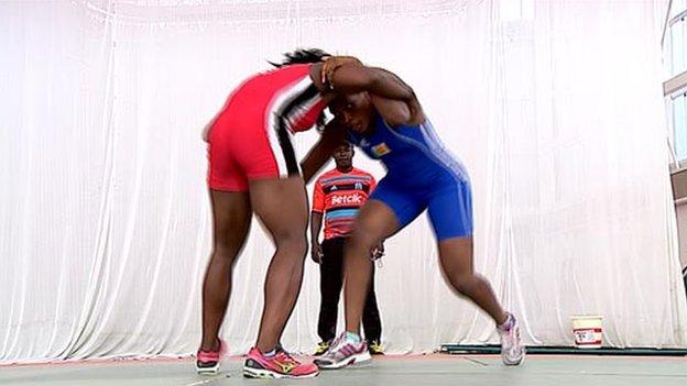 Cameroon wrestlers