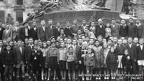 The Boys in Prague on their way to the UK in 1945