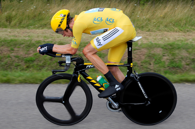 Bradley Wiggins in the 2012 Tour de France
