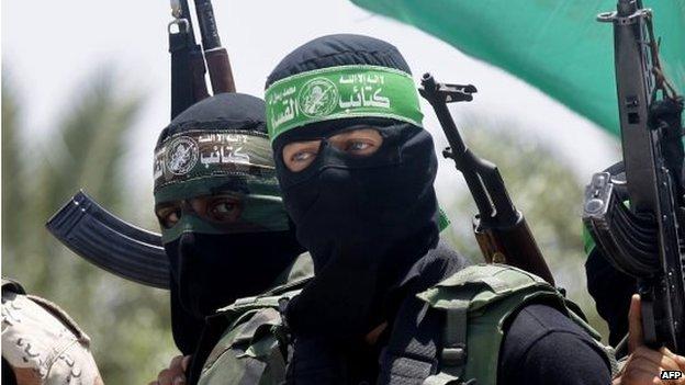 Members of Hamas' armed wing