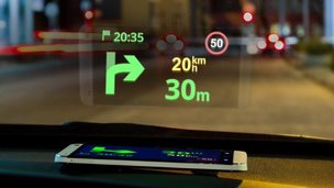 Sygic's new headup display