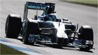 Lewis Hamilton sets the pace in practice two in Germany