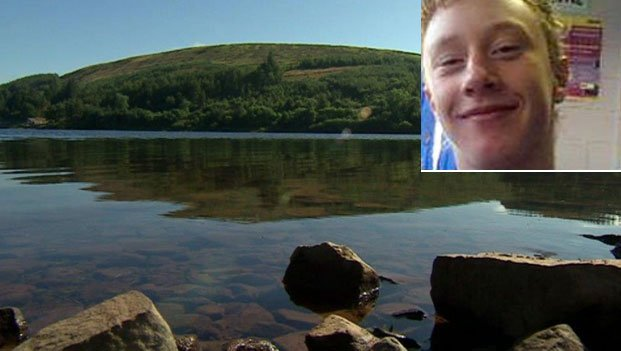 Reuben Morgan (inset right) died in 2006 at Pontsticill Reservoir