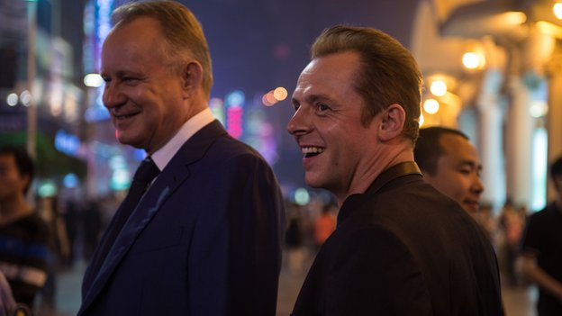 Stellan Skarsgard and Simon Pegg in Hector and the Search for Happiness