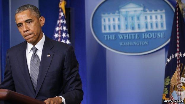 US President Barack Obama appeared in Washington DC on 18 July 2014