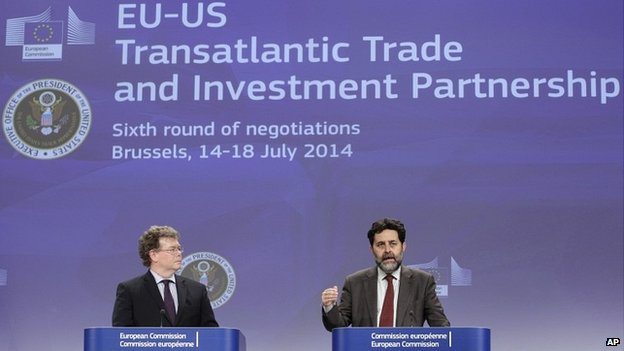 Trading between eu and us
