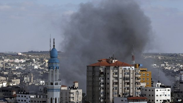Explosion in Gaza City. 18 July 2014