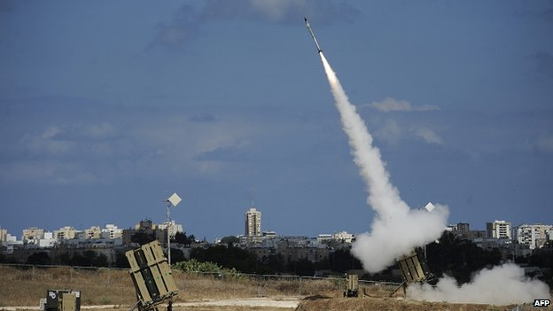 Anti-missile system in southern Israeli city of Ashdod. 18 July 2014