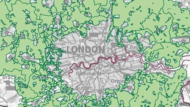 The greenbelt around London