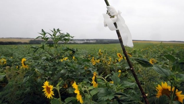 White flags mark the spots where a body lies, 17 July