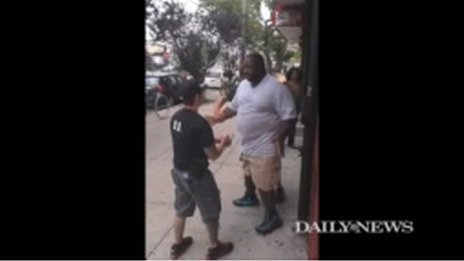 Eric Garner was seen in Staten Island, New York, on 17 July 2014