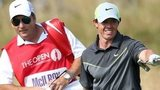 Rory McIlroy in action at The Open