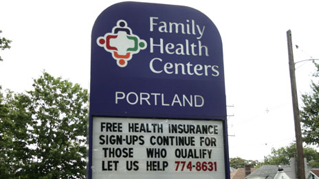 Sign urging people to sign up for health insurance