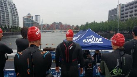 Open water swim in Salford