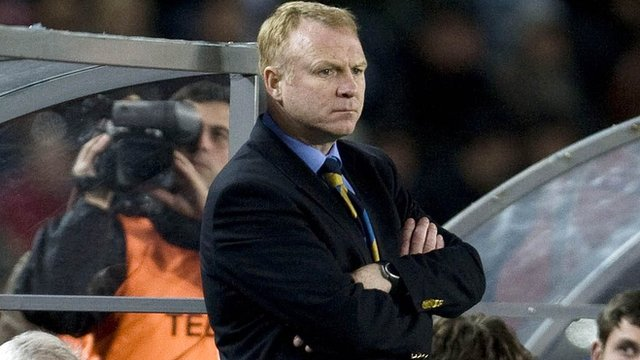 Alex McLeish during his spell in charge of Scotland